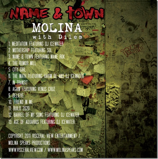 Name & Town Official Back Cover